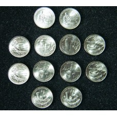 DC and US TERRITORIES 12 COIN SET.