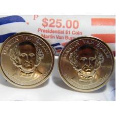 2008 PD MARTIN VAN BUREN GOLDEN DOLLAR SET.
